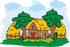 Vecteur de maison de village illustration de vecteur