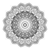 Vecteur de Mandala Round Zentangle Ornament Pattern Photographie stock