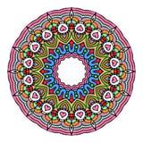 Vecteur de Mandala Round Zentangle Ornament Pattern Image libre de droits