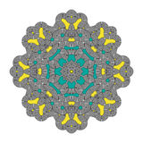 Vecteur de Mandala Round Zentangle Ornament Pattern Image stock