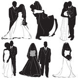 vecteur de marié de mariée Photos stock