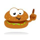 Vecteur de mascotte d'hamburger Photo libre de droits