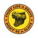 Vecteur de mascotte de dinosaure Rebecca 36 Image libre de droits