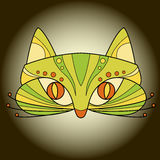 Vecteur de masque protecteur de chat illustration stock