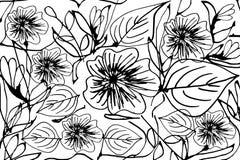 Vecteur de modèle de fleurs Photographie stock