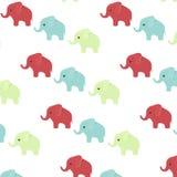 Vecteur de modèle de tissu d'impression d'éléphant Photo libre de droits