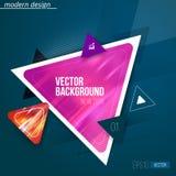 Vecteur de modèle et de fond géométriques abstraits de triangle illustration de vecteur