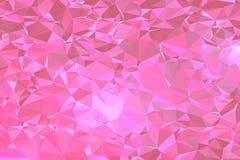 Vecteur de modèle de Rose Pink Poly Triangle Background Photographie stock libre de droits
