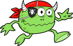 Vecteur de monstre de pirate Images stock