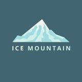 Vecteur de montagne de glace Image stock