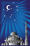 Vecteur de mosquée islamique Photos stock