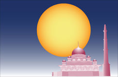 Vecteur de mosquée islamique Images stock