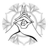 Vecteur de mudra de yoga illustration stock