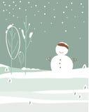 Vecteur de neige d'hiver Photos stock