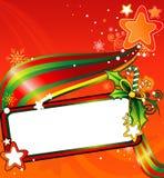 vecteur de Noël de drapeau illustration stock