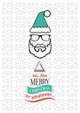 Vecteur de Noël de hippie avec le message sarcastique Images libres de droits