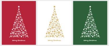 vecteur de No?l de carte joyeux Illustration de Noël dans 3 couleurs différentes illustration stock
