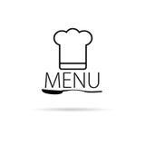 Vecteur de noir d'art d'icône de menu Images stock