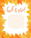 Vecteur de nouveau à la bordure de blanc d'école avec des feuilles d'automne Peut être employé en tant que la carte ou affiche de Images stock