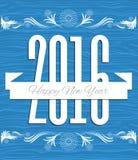vecteur de nouvelle année de 2016 ans Photographie stock
