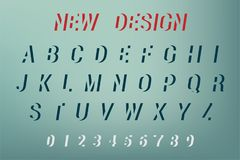 Vecteur de nouvelle conception d'alphabet Nouvelle police et alphabet de conception Illustration de vecteur Images stock