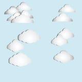 Vecteur de nuage Photographie stock libre de droits