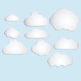 Vecteur 2 de nuage Photos stock