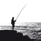 vecteur de pêcheur illustration stock
