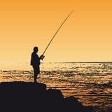 vecteur de pêcheur illustration libre de droits