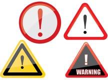 Vecteur de panneau d'avertissement illustration stock