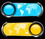 Vecteur de panneau du monde de carte Image libre de droits