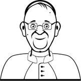Vecteur de pape Images libres de droits