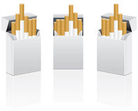 vecteur de paquet de cigarettes Images stock