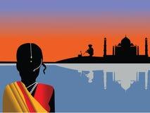 Vecteur de paysage de l'Inde Photo libre de droits