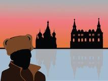 Vecteur de paysage de la Russie Photo libre de droits