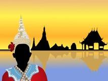 Vecteur de paysage de la Thaïlande Photos libres de droits