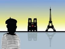 Vecteur de paysage de Paris Image stock