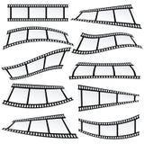 Vecteur de petit pain d'ensemble sur bande de film Image stock