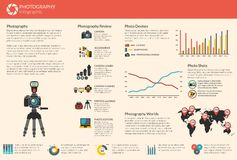 Vecteur de photographie infographic Photos stock