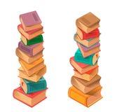 Vecteur de pile de livres Image stock