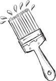 Vecteur de pinceau de griffonnage Images libres de droits