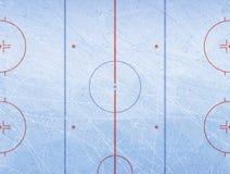 Vecteur de piste de hockey sur glace Donne à la glace une consistance rugueuse bleue Patinoire Fond d'illustration de vecteur photographie stock libre de droits