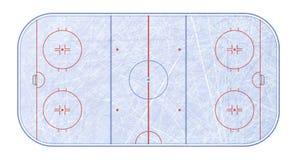 Vecteur de piste de hockey sur glace Donne à la glace une consistance rugueuse bleue Patinoire Vue supérieure Fond d'illustration photographie stock