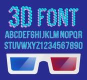 vecteur de pixel de la police 3D Police olographe de l'effet 3D Vision tordue par stéréo Illustration Images libres de droits
