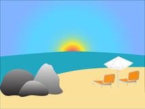 Vecteur de plage illustration stock