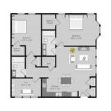Vecteur de plan d'étage illustration stock