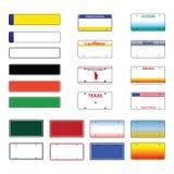 Vecteur de plaques minéralogiques photo stock
