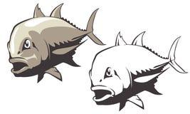 Vecteur de poissons de Trevally de géant illustration libre de droits