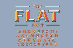 Vecteur de police audacieuse moderne et d'alphabet Vecteur 80 s d'alphabet de vintage Illustration Libre de Droits