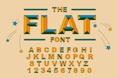 Vecteur de police audacieuse moderne et d'alphabet Vecteur 80 s d'alphabet de vintage Illustration de Vecteur